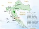 Pakoštane - karta Hrvatske
